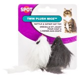 Spot® Twin Plush Mice 2pk Cat Toy