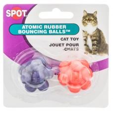 Spot® Atomic Rubber Bouncing Balls 2pk Cat Toy