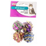 Spot® Mylar Balls 4pk Cat Toy
