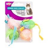 Spot® Stringy Mice & Balls 4pk Cat Toy