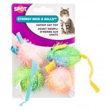 Spot® Stringy Mice & Balls 4pk Cat Toy