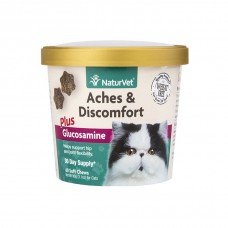 NaturVet® Aches & Discomfort Plus Glucosamine Soft Chews Cat