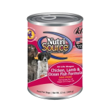NutriSource® Chicken, Lamb & Oceanfish Canned Dog Food