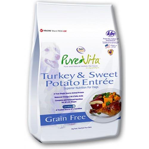 Pure Vita Turkey Sweet Potato Entrée Grain Free Dog Food